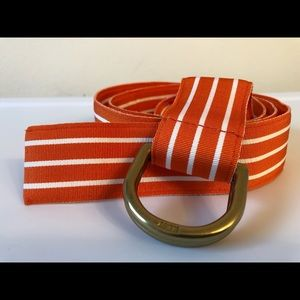 Ralph Lauren Grosgrain Ribbon O Ring Belt